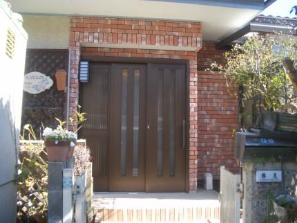 玄関ドア工事後